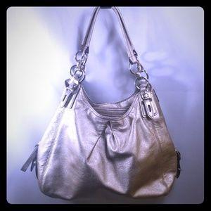 Coach Metallic Leather Hobo Bag